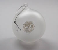 Hershey Bears Frosted Glass Ball Ornament LARGE