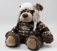 "Hershey Bears 11"" Plush Sweater Bear LARGE"