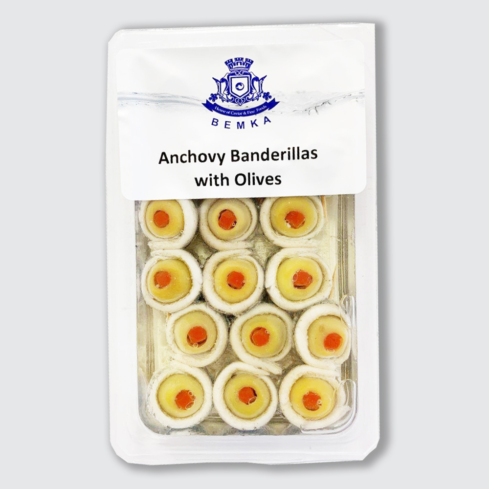 GREEN OLIVES MARINATED ANCHOVY 7 OZ THUMBNAIL