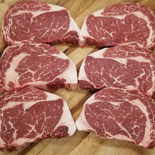 HIGH CHOICE ANGUS, DELMONICO RIBEYE STEAKS - 6 PER CASE LARGE