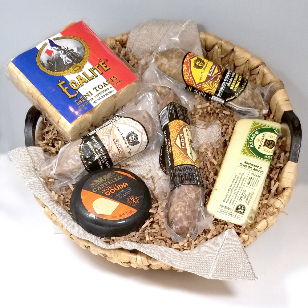 EPICUREAN MEAT & CHEESE GIFT BASKET THUMBNAIL