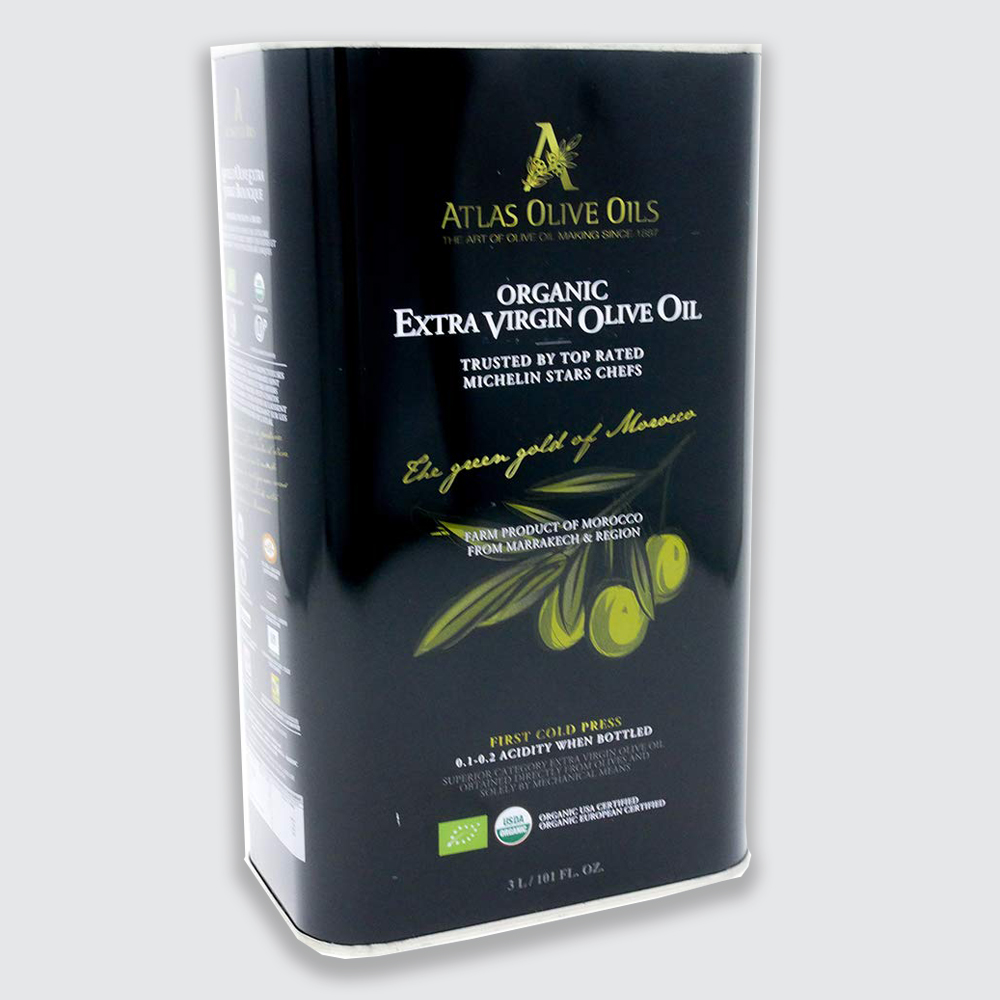EXTRA VIRGIN OLIVE OIL METAL TINS 3 LITER LARGE