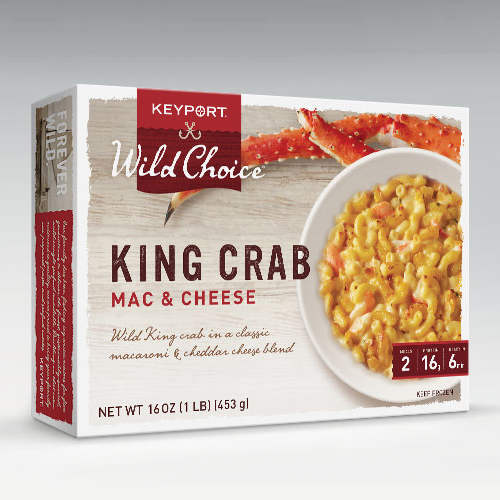 WILD CHOICE KING CRAB MAC & CHEESE. LARGE
