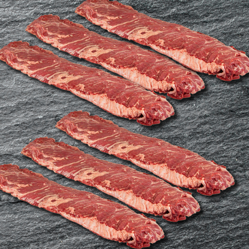 BEEF OUTSIDE SKIRT PEELED - 6 PC SET LARGE