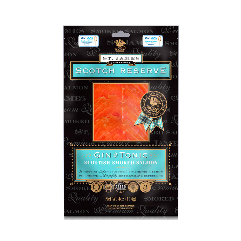 SCOTTISH RESERVE SMOKED SALMON INFUSED WITH GIN & TONIC 8 OZ LARGE