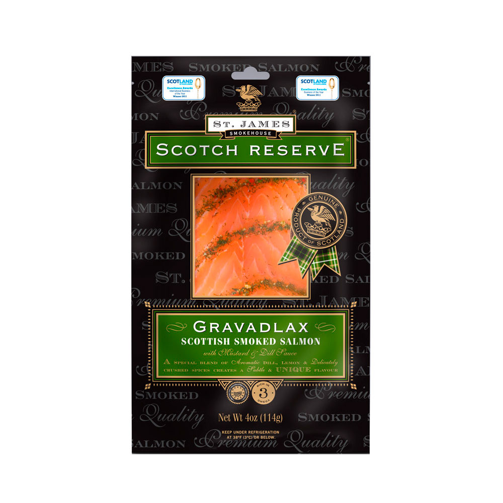 SCOTTISH RESERVE GRAVADLAX SLICED SMOKED SALMON 16 OZ LARGE