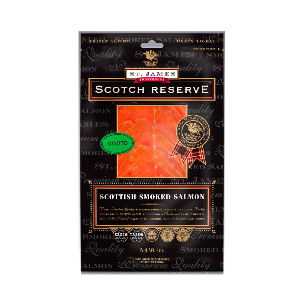 SCOTTISH RESERVE SMOKED SALMON INFUSED WITH MOJITO 8 OZ LARGE