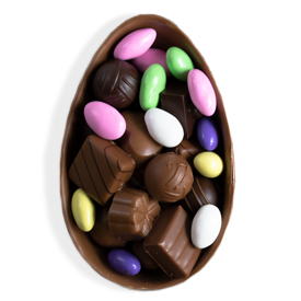 Boxed Half Easter Egg Gift