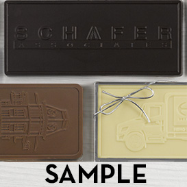 Custom Molded Chocolate Bar - 6 ounce size THUMBNAIL
