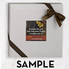 Deluxe Two Layer Box with Custom Printed Label Topper SWATCH