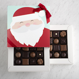 Deluxe Two Layer Holiday Chocolate Gift Box THUMBNAIL