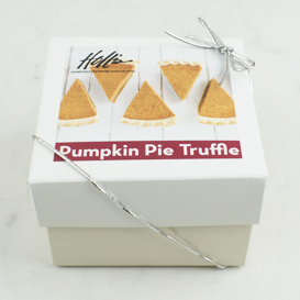 Eight Piece Pumpkin Pie Truffle Box