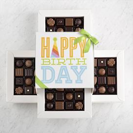 Four Layer Happy Birthday Gift Box SWATCH
