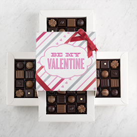Four Layer Valentine's Day Swiss Chocolate Gift Box THUMBNAIL