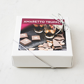 Four Piece Amaretto Truffle Box SWATCH