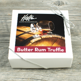 Four Piece Butter Rum Truffle Box SWATCH
