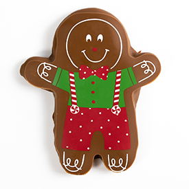 Chocolate Covered Gingerbread Boy Cookie THUMBNAIL