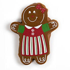 Chocolate Covered Gingerbread Girl Cookie THUMBNAIL