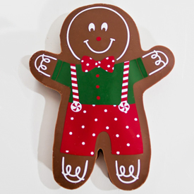 Chocolate Covered Gingerbread Boy Cookie