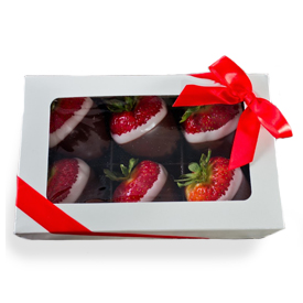 Box of 6 Double Dipped Strawberries for Pickup on Friday, May 7th THUMBNAIL