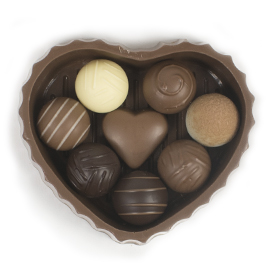 Solid Milk Chocolate Sweetheart Box SWATCH