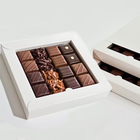 Nut and Caramel Two Layer Box