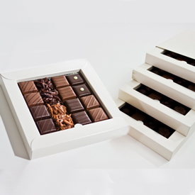 Nut and Caramel Four Layer Box