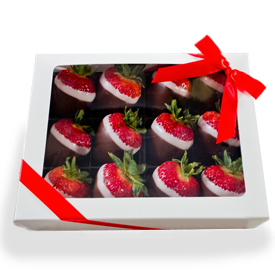 Box of 12 Chocolate Dipped Strawberries THUMBNAIL