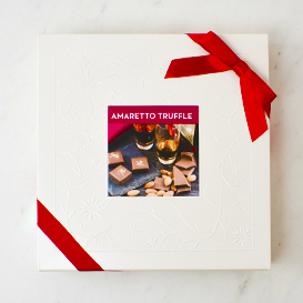 One Layer Amaretto Truffle Box SWATCH