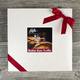 One Layer Butter Rum Truffle Box SWATCH