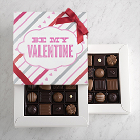 Two Layer Valentine's Day Swiss Chocolate Gift Box THUMBNAIL