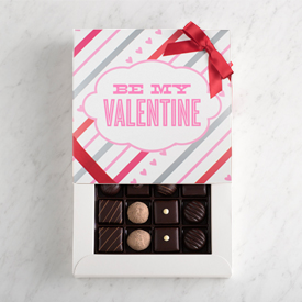 Dark Chocolate One Layer Valentine's Day Gift Box MAIN
