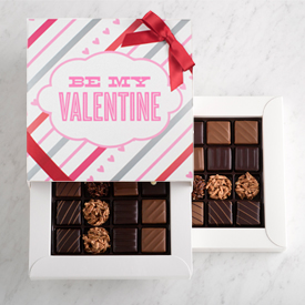 Nut and Caramel Two Layer Valentine's Day Gift Box MAIN