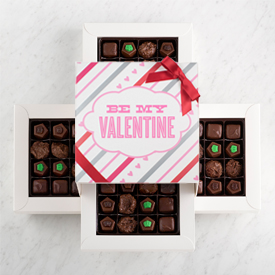 Valentine's Day Sugar Free Chocolate 64 piece box THUMBNAIL