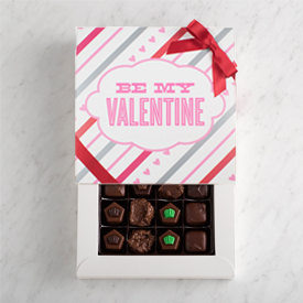 Valentine's Day Sugar Free Chocolate 16 piece box THUMBNAIL