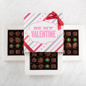 Valentine's Day Sugar Free Chocolate 48 piece box THUMBNAIL