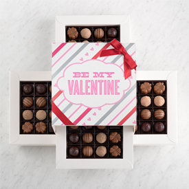 Valentine's Day Chocolate Truffle 64 piece box THUMBNAIL