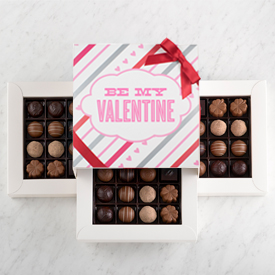 Valentine's Day Chocolate Truffle 48 piece box THUMBNAIL