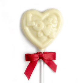 White Chocolate I Love You Heart Lollipop MAIN
