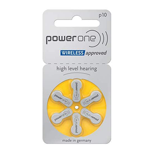 Power One Size 10 Mercury Free Hearing Aid Batteries THUMBNAIL