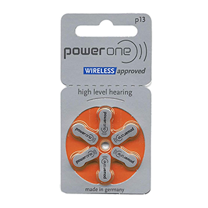 Power One Size 13 Mercury Free Hearing Aid Batteries THUMBNAIL