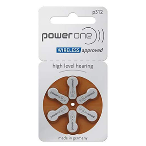 Power One Size 312 Hearing Aid Batteries THUMBNAIL