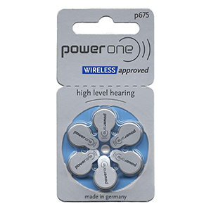 Power One Size 675 Hearing Aid and Cochlear Implant Batteries LARGE