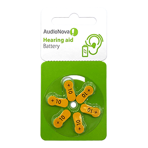 AudioNova size 10 hearing aid batteries LARGE