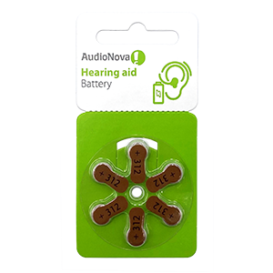 AudioNova size 312 hearing aid batteries LARGE