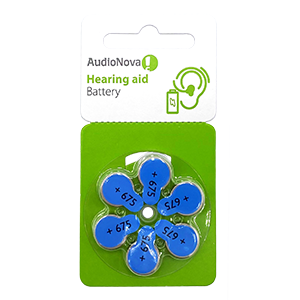 AudioNova size 675 hearing aid batteries LARGE