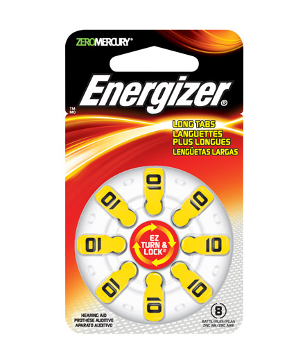 Energizer EZ Turn & Lock Hearing Aid Batteries Size 10