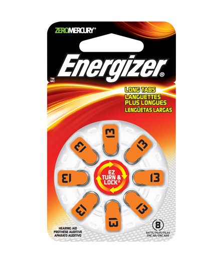 Energizer EZ Turn & Lock Hearing Aid Batteries Size 13