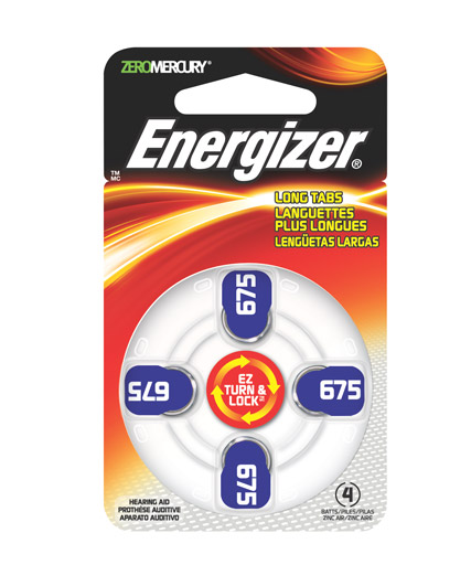 Energizer EZ Turn & Lock Hearing Aid Batteries Size 675