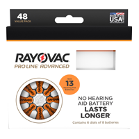 Rayovac Size 13 Hearing Aid Batteries - 48 Cell Pack THUMBNAIL